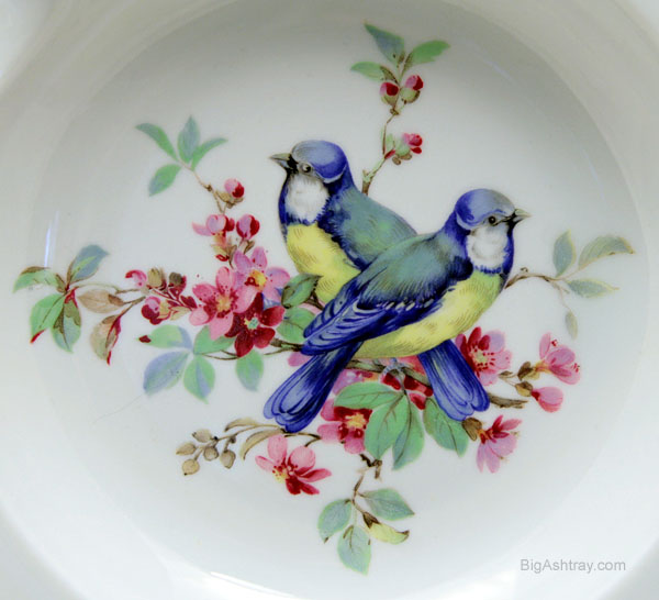 schumann arzberg of germany porcelain birds ashtray big. Black Bedroom Furniture Sets. Home Design Ideas