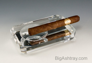 Modern cigar ashtrays made with high clarity heavy crystal